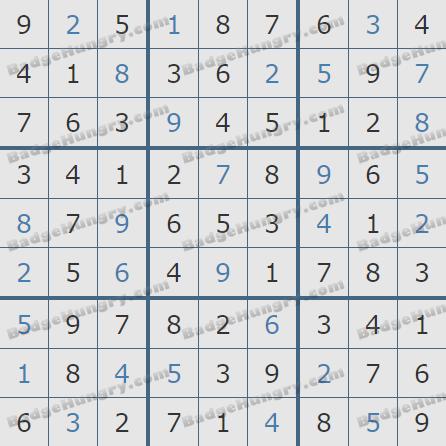 Pogo Daily Sudoku Solutions: February 17, 2020