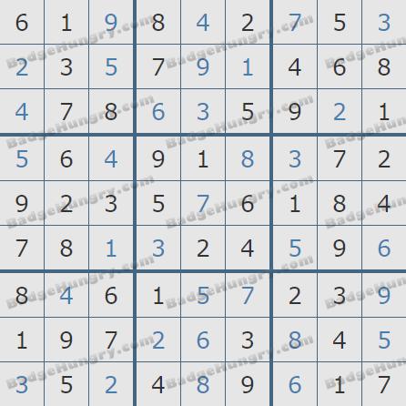 Pogo Daily Sudoku Solutions: February 21, 2020