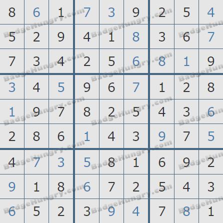 Pogo Daily Sudoku Solutions: February 25, 2020
