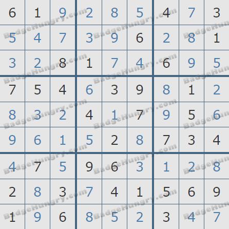 Pogo Daily Sudoku Solutions: February 26, 2020