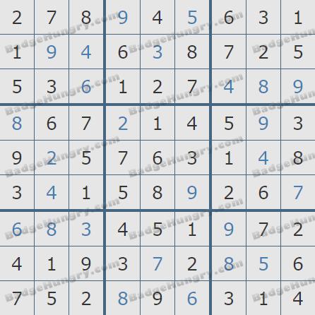 Pogo Daily Sudoku Solutions: February 28, 2020