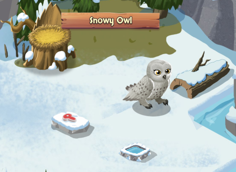 Mahjong Sanctuary - Snowy Owl