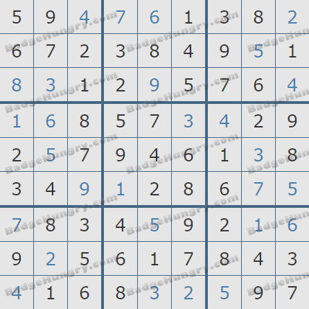 Pogo Daily Sudoku Solutions: March 1, 2020