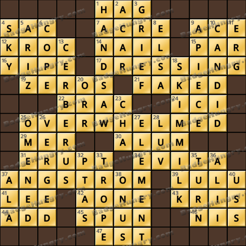 Crossword Cove HD Solution: March 1, 2020