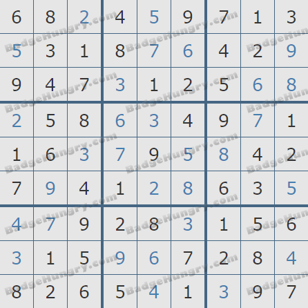 Pogo Daily Sudoku Solutions: March 2, 2020