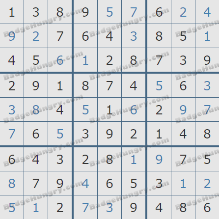 Pogo Daily Sudoku Solutions: March 3, 2020