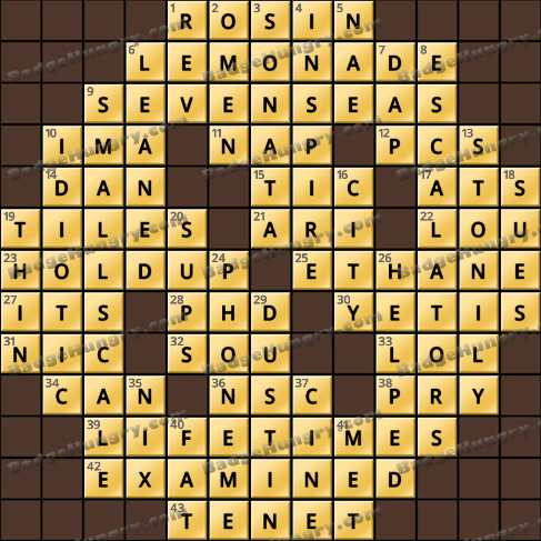Crossword Cove HD Solution: March 7, 2020