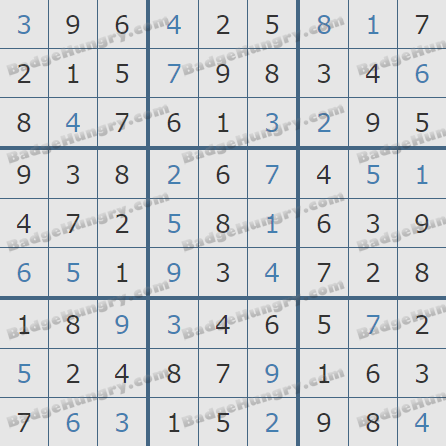 Pogo Daily Sudoku Solutions: March 9, 2020