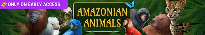Amazonian Animals Badge Collection