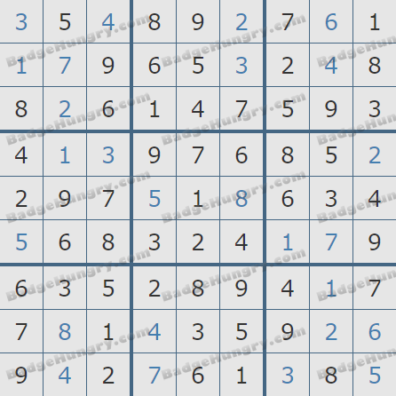 Pogo Daily Sudoku Solutions: March 21, 2020