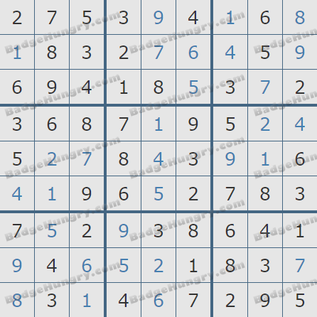 Pogo Daily Sudoku Solutions: March 25, 2020