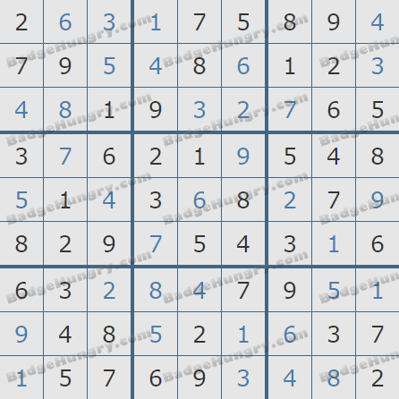 Pogo Daily Sudoku Solutions: March 28, 2020