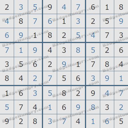 Pogo Daily Sudoku Solutions: April 1, 2020