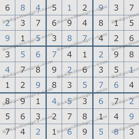 Pogo Daily Sudoku Solutions: April 2, 2020