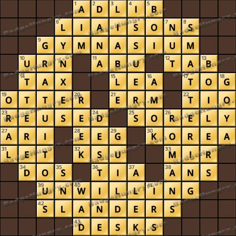 Crossword Cove HD Solution: April 3, 2020