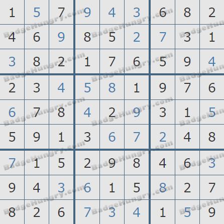 Pogo Daily Sudoku Solutions: April 6, 2020