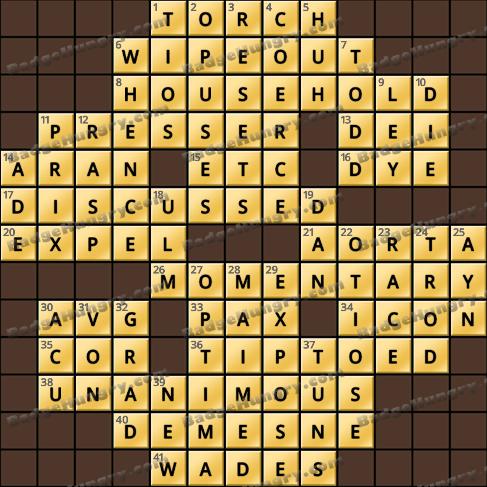Crossword Cove HD Solution: April 6, 2020