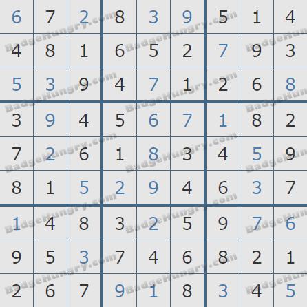 Pogo Daily Sudoku Solutions: April 7, 2020