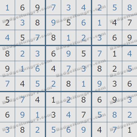 Pogo Daily Sudoku Solutions: April 8, 2020