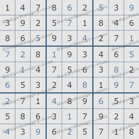Pogo Daily Sudoku Solutions: April 15, 2020