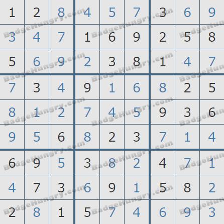 Pogo Daily Sudoku Solutions: April 17, 2020