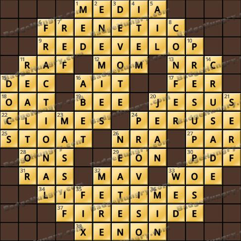 Crossword Cove HD Solution: April 18, 2020