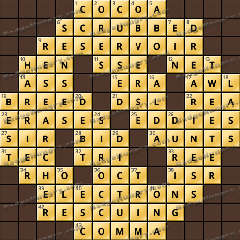 Crossword Cove HD Solution: April 19, 2020