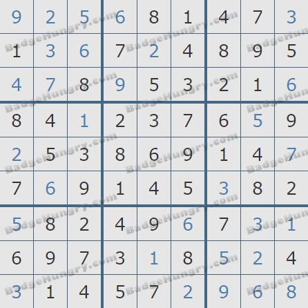 Pogo Daily Sudoku Solutions: April 21, 2020
