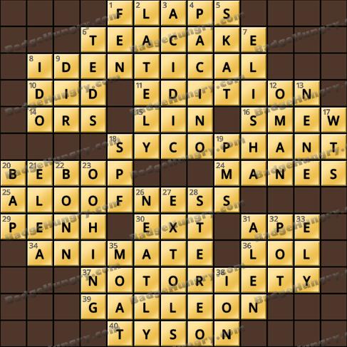 Crossword Cove HD Solution: April 28, 2020