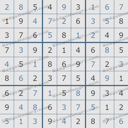 Pogo Daily Sudoku Solutions: May 3, 2020
