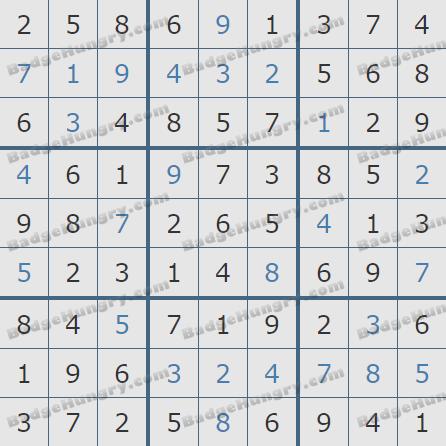 Pogo Daily Sudoku Solutions: May 9, 2020