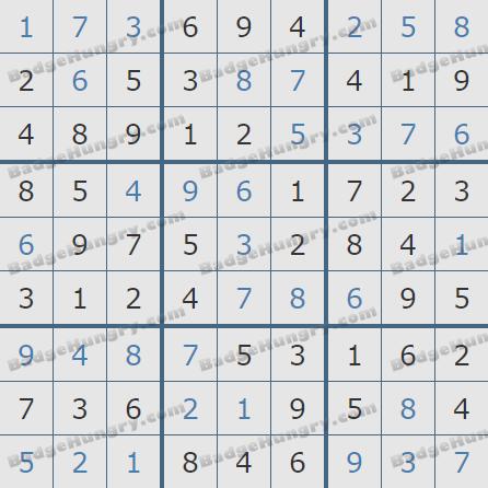 Pogo Daily Sudoku Solutions: May 11, 2020