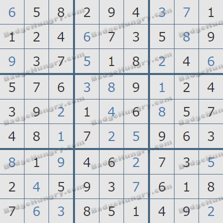 Pogo Daily Sudoku Solutions: May 13, 2020