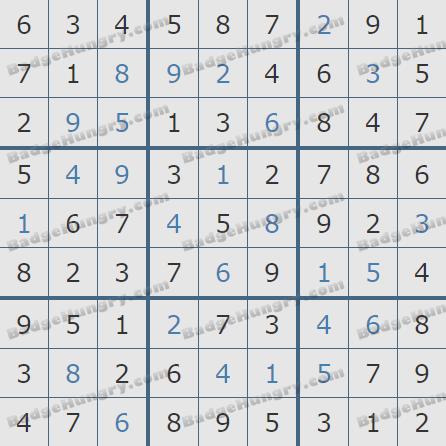 Pogo Daily Sudoku Solutions: May 16, 2020