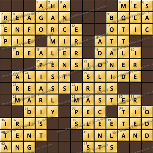 Crossword Cove HD Solution: May 18, 2020