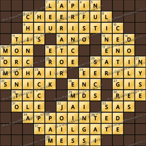 Crossword Cove HD Solution: May 21, 2020