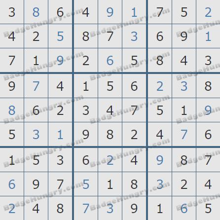 Pogo Daily Sudoku Solutions: May 22, 2020