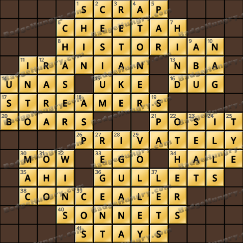 Crossword Cove HD Solution: May 23, 2020
