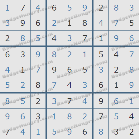 Pogo Daily Sudoku Solutions: May 24, 2020