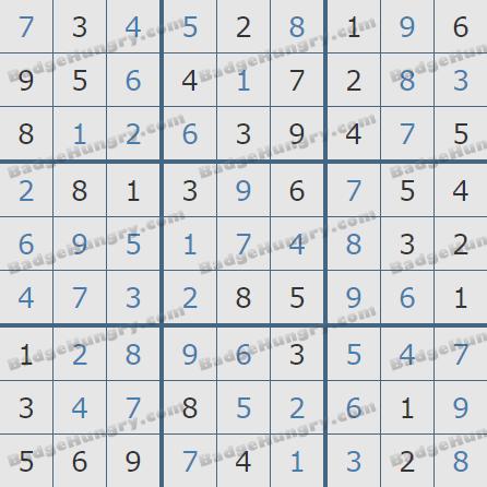 Pogo Daily Sudoku Solutions: May 25, 2020