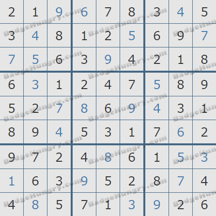Pogo Daily Sudoku Solutions: May 29, 2020