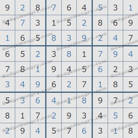 Pogo Daily Sudoku Solutions: May 31, 2020