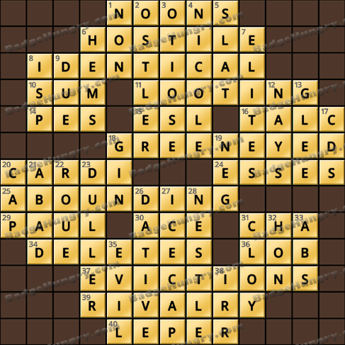 Crossword Cove HD Solution: May 31, 2020