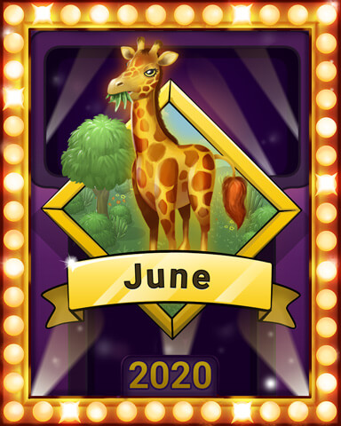 June 2020 Game of the Month Mahjong Sanctuary Badge