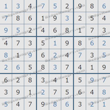 Pogo Daily Sudoku Solutions: June 2, 2020