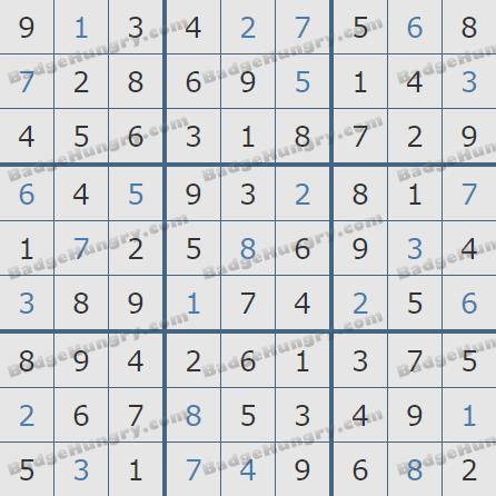 Pogo Daily Sudoku Solutions: June 3, 2020