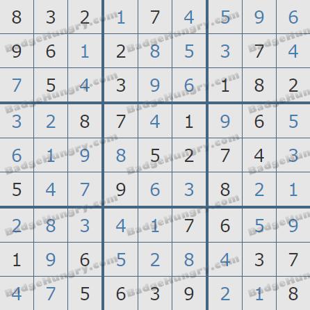 Pogo Daily Sudoku Solutions: June 4, 2020