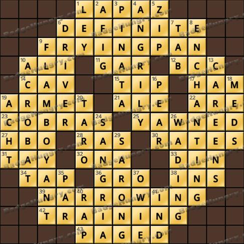 Crossword Cove HD Solution: June 6, 2020