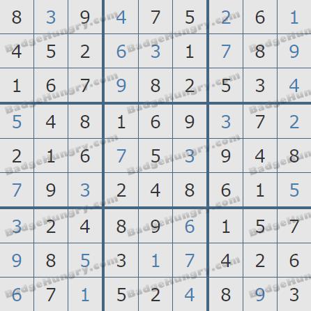 Pogo Daily Sudoku Solutions: June 9, 2020