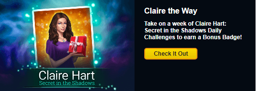 Claire Hart: Secret in the Shadows Third Daily Challenge and Episode Sale